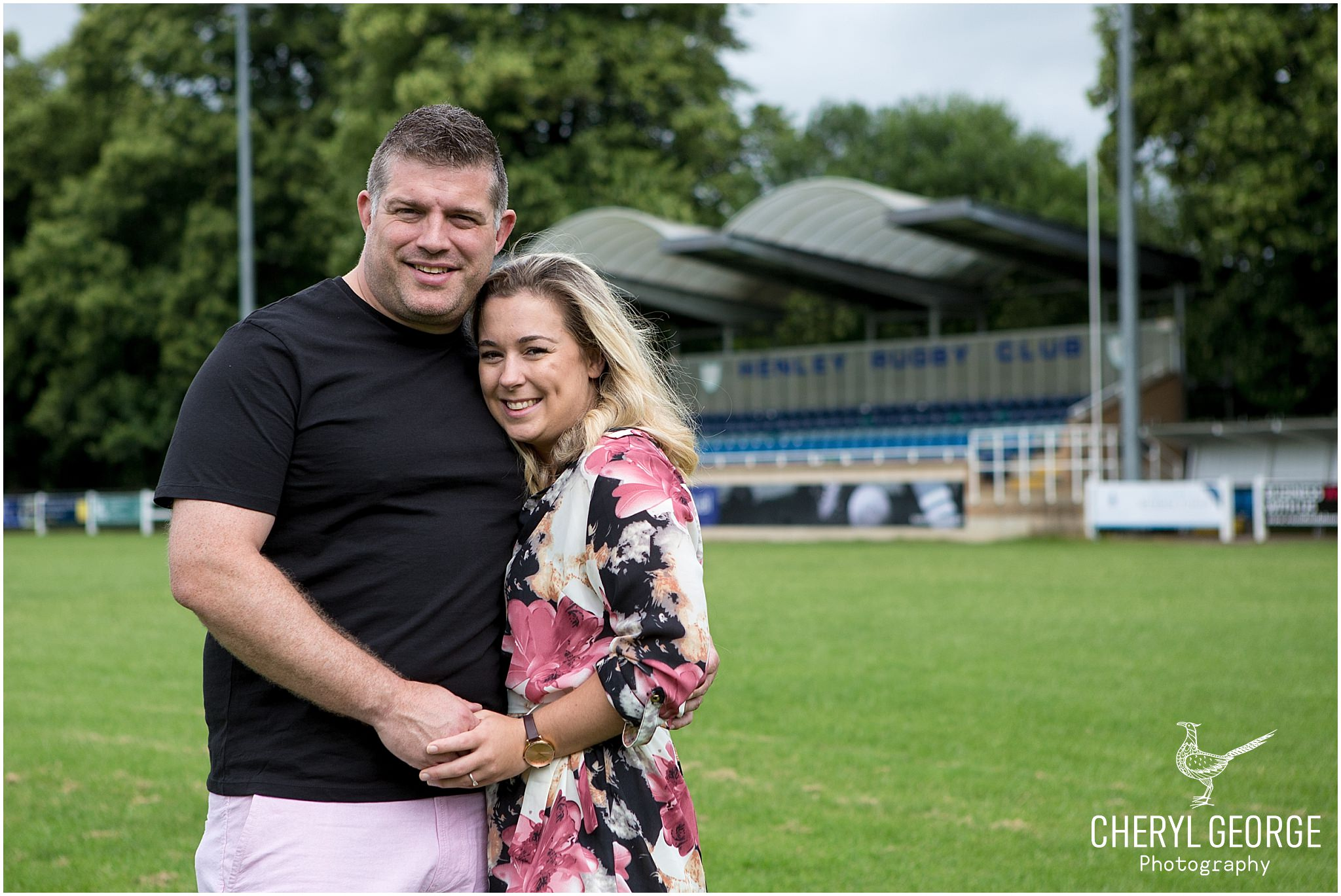 Carly & Jim's engagement shoot at Henley Rugby Club