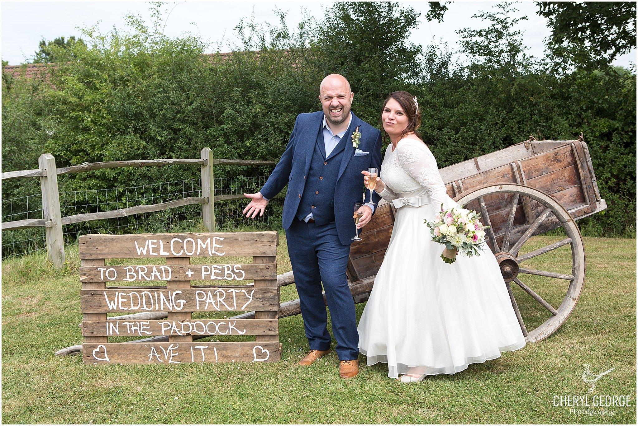 Pebble & Brad's Gildings Barn wedding
